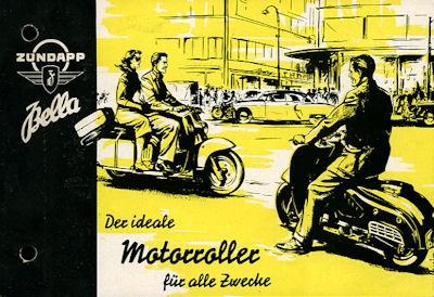 Zündapp Bella 150ccm Prospekt 1953