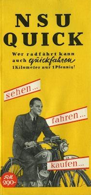 NSU Quick Prospekt 1937