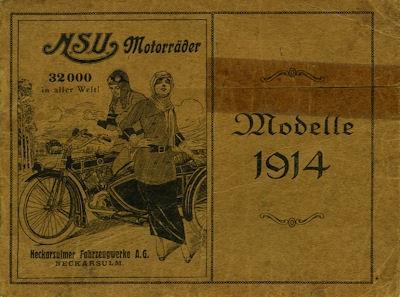 NSU Motorrad Programm 1914