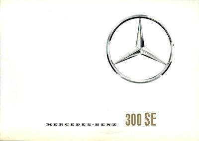 Mercedes-Benz 300 SE Prospekt 7.1961