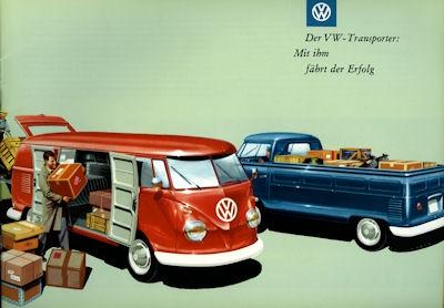 VW T 1 Prospekt 1950er Jahre