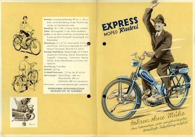 Express Radexi Prospekt 1950er Jahre