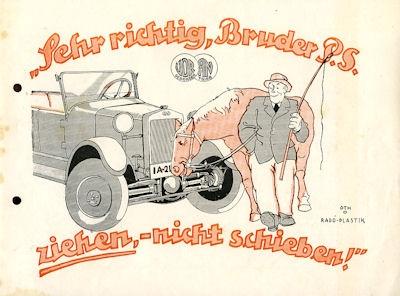 Voran 5/25 PS Prospekt 1920er Jahre