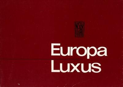 NSU-Fiat Europa Luxus Prospekt 11.1963