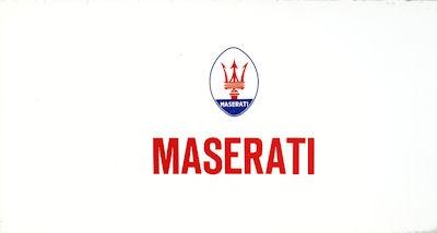 Maserati Programm ca. 1970