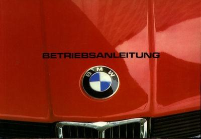 BMW 315 Bedienungsanleitung 1983