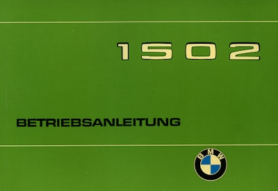 BMW 1502 Bedienungsanleitung 1976