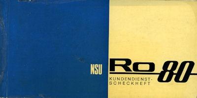 NSU RO 80 Wankel Kundendienstheft ca. 1971