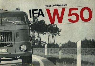 IFA W 50 Pritschenwagen 5,3t Prospekt 1966