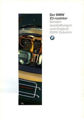 BMW Z 3 Sonderausstattung und Zubehör Prospekt 1996