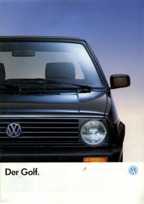 VW Golf 2 Prospekt 1989