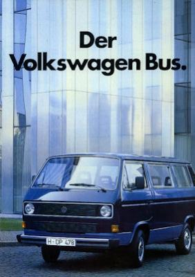 VW T 3 Prospekt 1985