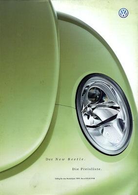 VW New Beetle Preisliste 1999