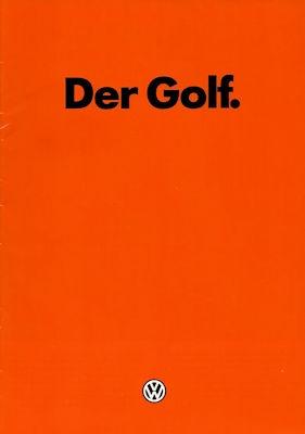 VW Golf 1 Prospekt 1.1982