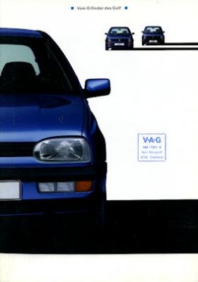 VW Golf III Prospekt 9.1991
