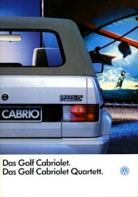 VW Golf Cabriolet I Prospekt 1992
