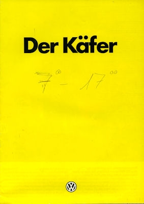 VW Käfer Prospekt 1985
