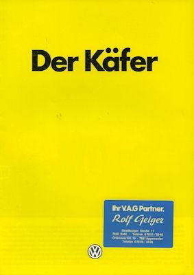 VW Käfer Prospekt 1984