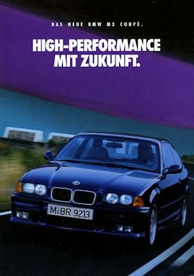 BMW M 3 Coupé Prospekt 1992