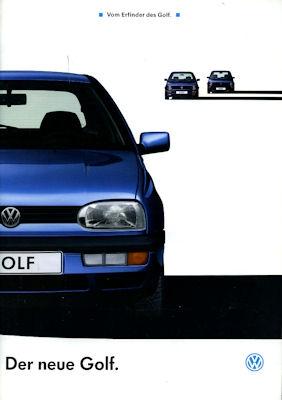 VW Golf III Prospekt 1992