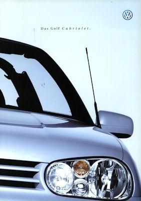 VW Golf IV Cabriolet Prospekt 2001