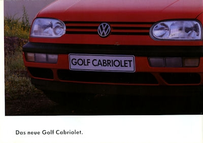 VW Golf III Cabriolet Prospekt 8.1993