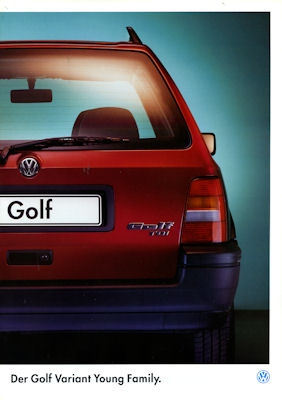 VW Golf III Variant Young Family Prospekt 1995