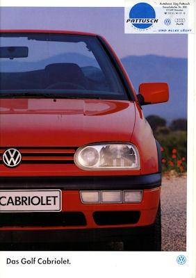 VW Golf III Cabriolet Prospekt 1995