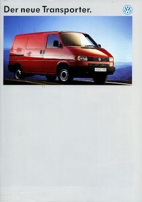 VW T 4 Transporter Prospekt 1991