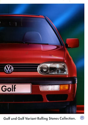 VW Golf III Variant Rolling Stones Collection Prospekt 1995