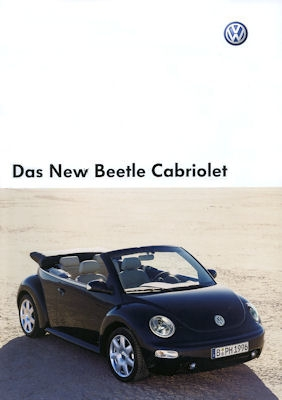 VW New Beetle Cabriolet Prospekt 2003