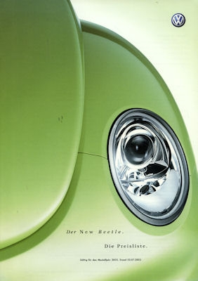 VW New Beetle Preisliste 7.2001