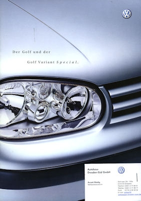 VW Golf IV Variant Special Prospekt 2002