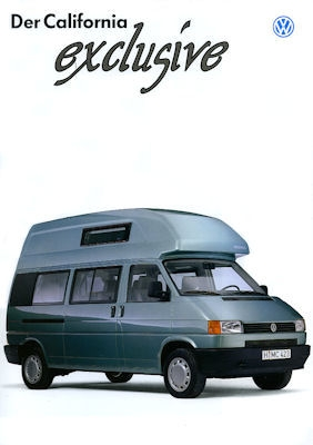 VW T 4 California Exclusive Prospekt 1995
