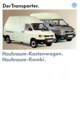 VW T 4 Transporter Hochraum Prospekt 1993