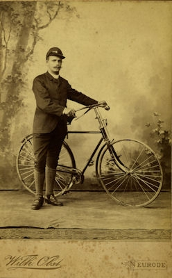 Foto Fahrrad ca. 1900