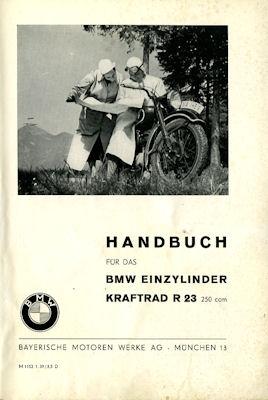 BMW R 23 Bedienungsanleitung 5.1938 1
