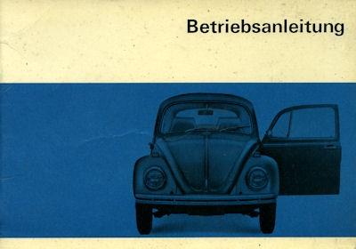 VW Käfer Bedienungsanleitung 8.1968