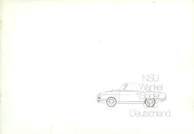 NSU Wankel Spider Broschüre 80/90er Jahre