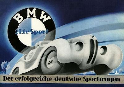 BMW 328 Prospekt 1937 Reprint