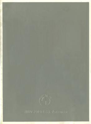 BMW 2000 CS Prospekt 9.1966 e