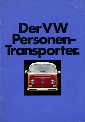 VW T 2 Personen-Transporter Prospekt 8.1971