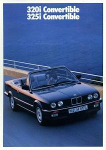 BMW 320i 325i Cabrio Prospekt 1990 e