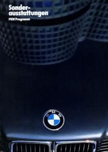 BMW Sonderausstattung Prospekt 1987