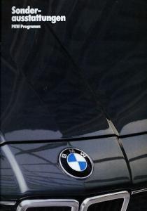 BMW Sonderausstattung Prospekt 1986