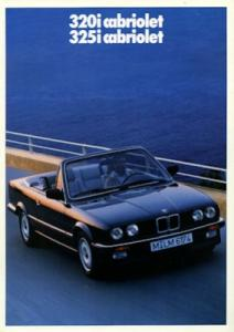 BMW 320i 325i Cabrio Prospekt 1989 f