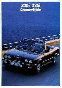 BMW 320i 325i Cabrio Prospekt 1989 e