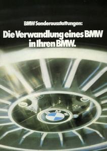 BMW Sonderausstattung Prospekt 1980