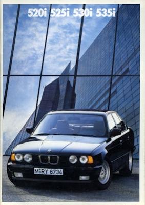 BMW 520i 525i 530i 535i Prospekt 1988 holl