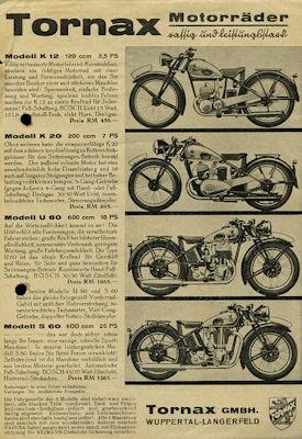 Tornax Programm 1939